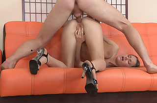 Assfucked helter-skelter high-heel brown-nose