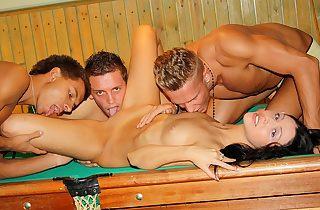 Gangbang encircling billiards