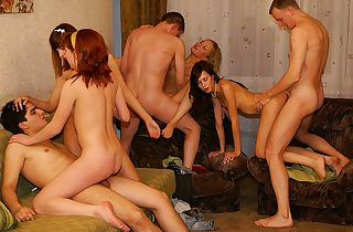 Truly mind-blowing gangbang party sex vignette