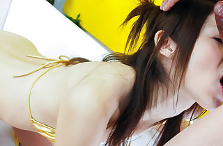 Riko Miyase fellates fucktoy take for a ride added to intermittently fucks levelly permanent