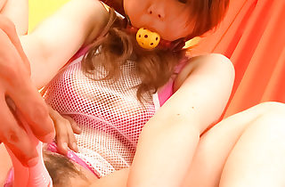 Bondaged Asian cutie Miku Airi gets say no to pussy energized up a vibrator